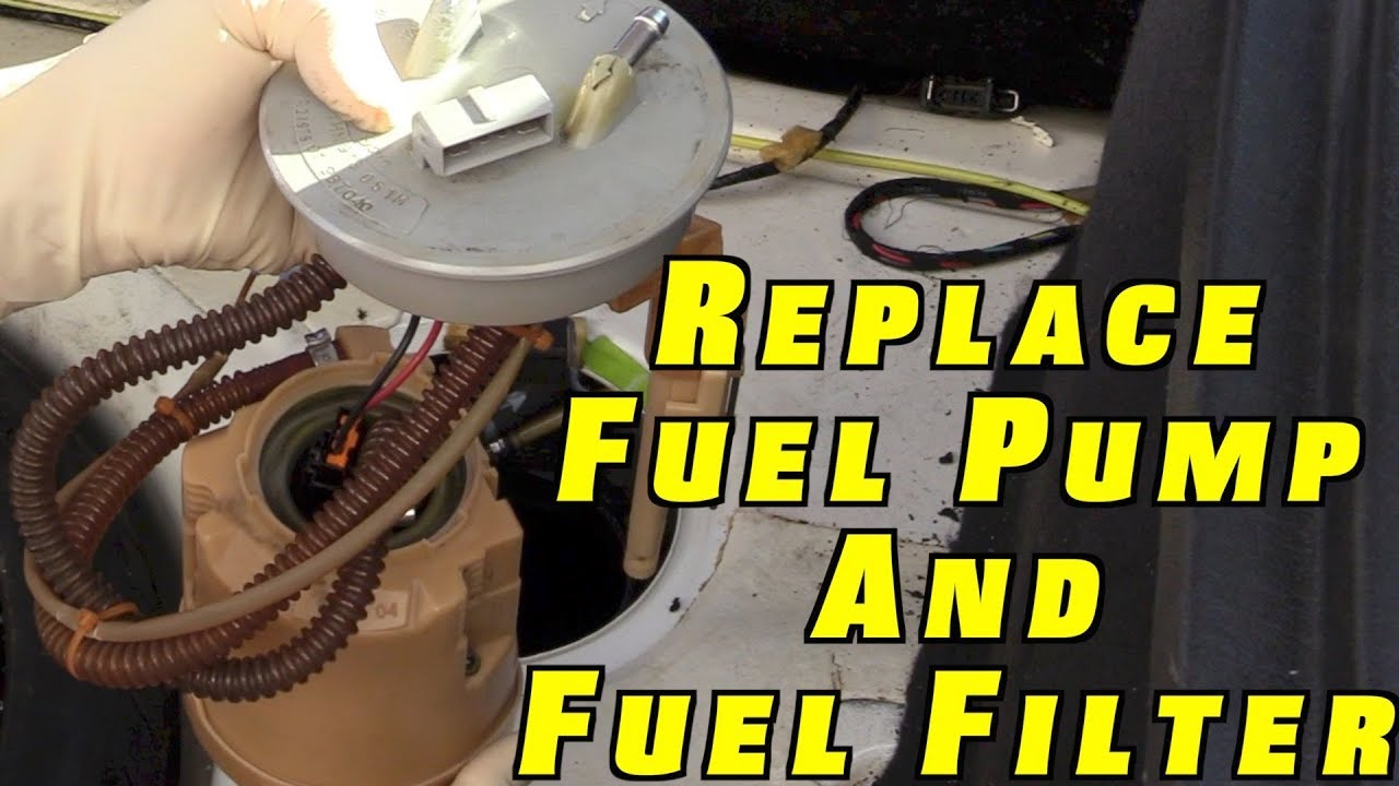how to replace a fuel pump and fuel filter youtube