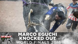 Marco Eguchi Knocked Out After 94-Point Ride on Spotted Demon | 2018 PBR World Finals