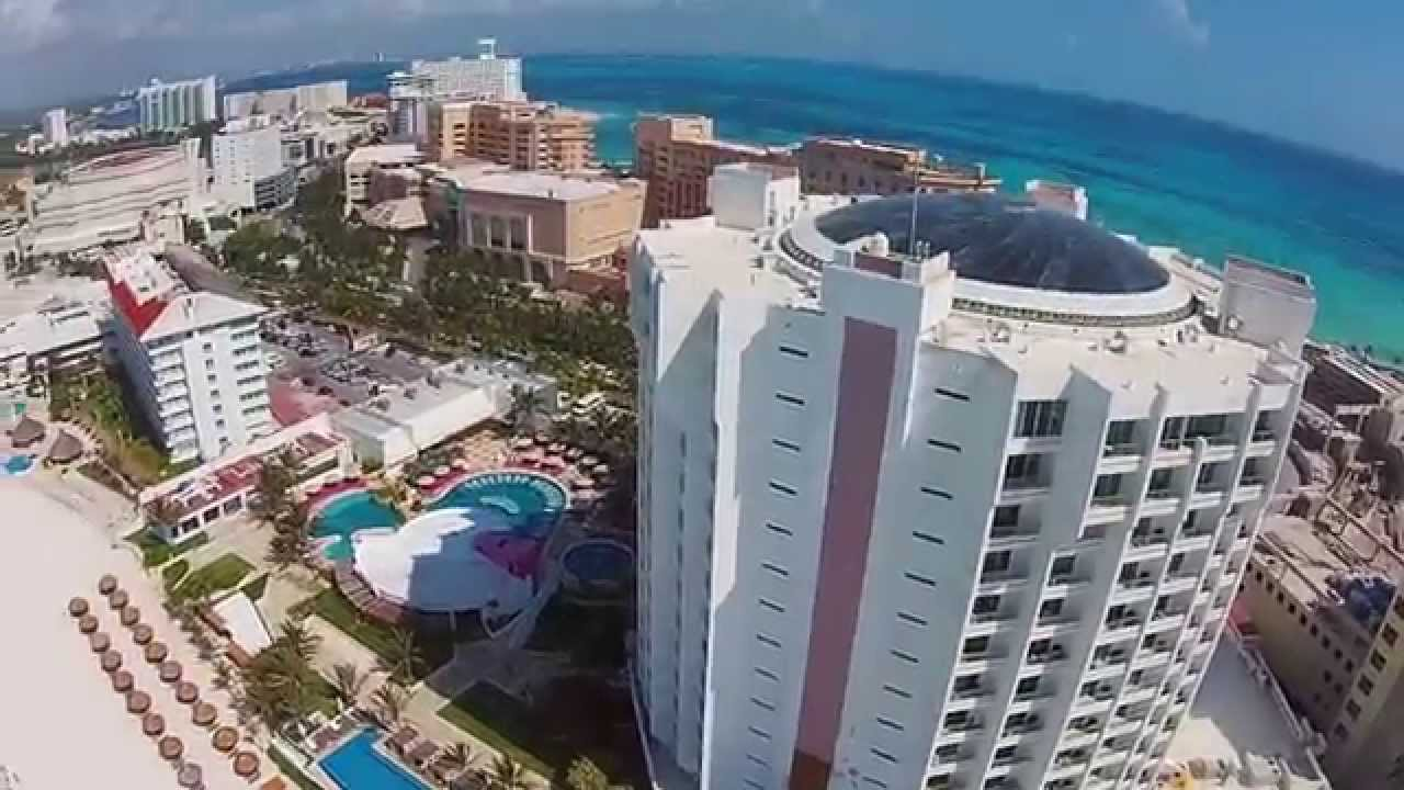 Emporio Hotel And Krystal Grand Punta Cancun With A Dji Phantom 2 Vision Plus You