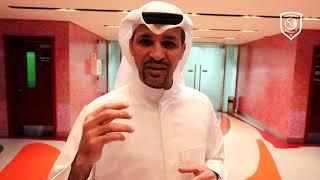 خالد الفضلي نجم الكرة الكويتية السابق: الدحيل ينتظر مؤازرة جماهيرية لحسم التأهل.
