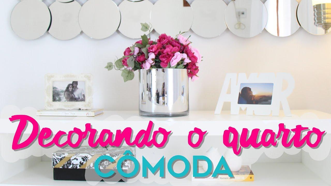 Diy decora o de quarto como decorar c moda gastando - Como decorar una comoda ...
