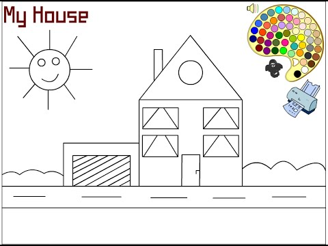 House Coloring Pages For Kids - House Coloring Pages - YouTube