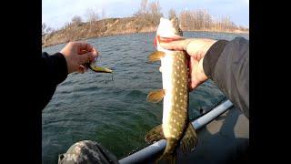 Первая весенняя рыбалка на щуку
