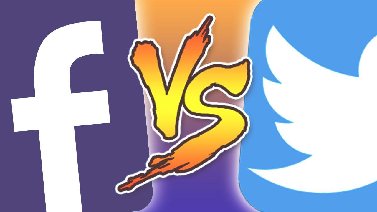 FACEBOOK vs TWITTER - YouTube