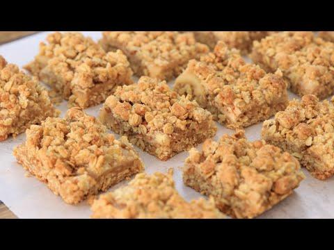 Apple Pie Bars Recipe   Apple Crumble Bars