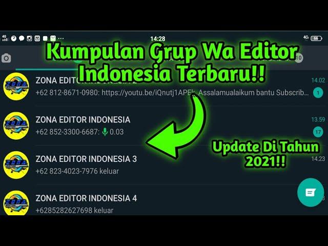 Cara Masuk Grup Wa Editor Indonesia Terbaru 2021 Di Jamin Bisa Youtube
