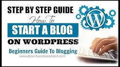How To Create A Free Website/Blog on WordPress.com: Tutorial