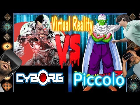 360° VR Mugen Fight Cyborg (DC Comics) vs Piccolo (Dragonball Z)