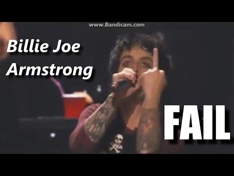 Billie Joe Armstrong FAIL ┃RockStar FAIL