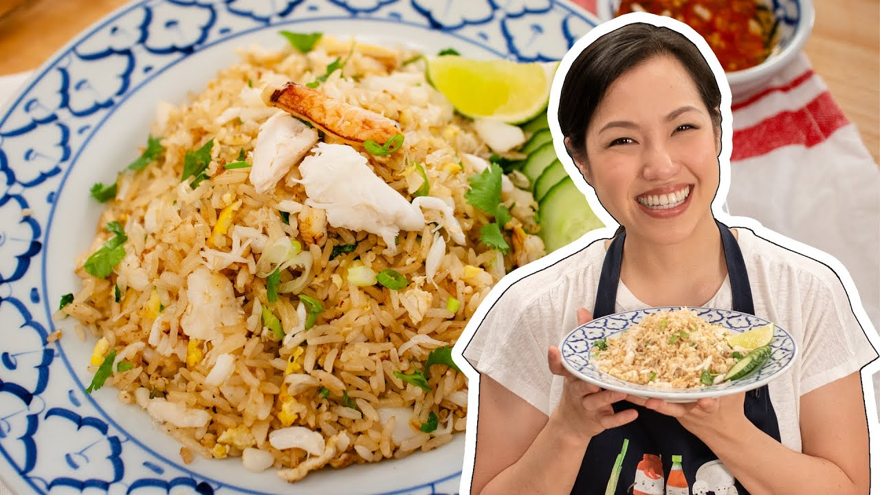 New Crab Fried Rice Recipe Hot Thai Kitchen ข าวผ ดป Youtube