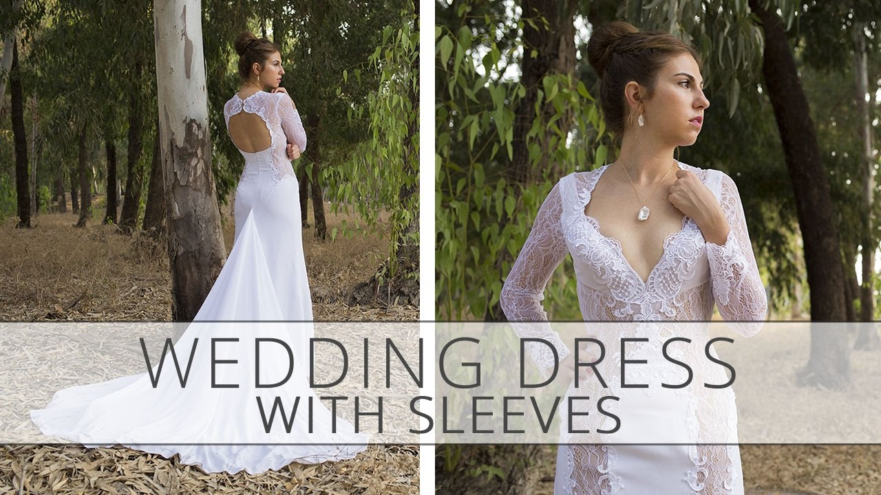 How to sew a wedding dress with sleeves? Sewing tutorial. - YouTube
