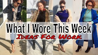 What I Wore This Week | Thrifted Edition | Outfit Ideas For Work