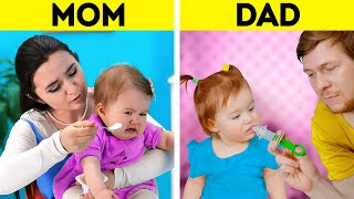 MOM VS. DAD || Clever Parenting Tricks And Gadgets You'll Be Grateful For || Easy Kids Training
