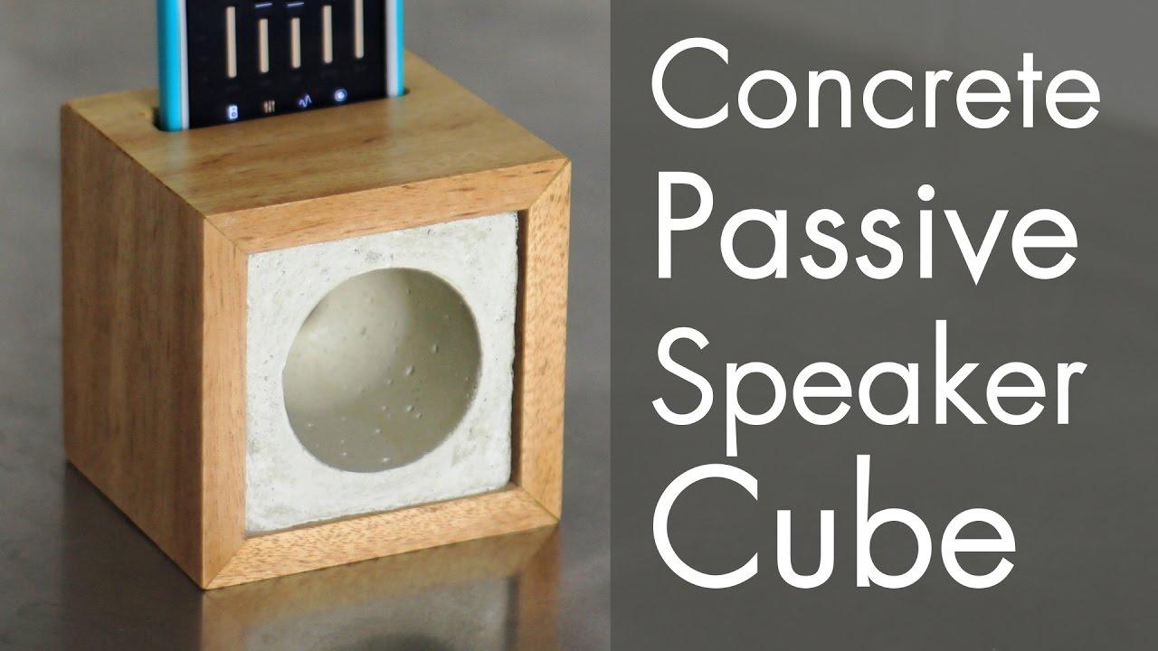 Concrete Passive Speaker Cube Youtube