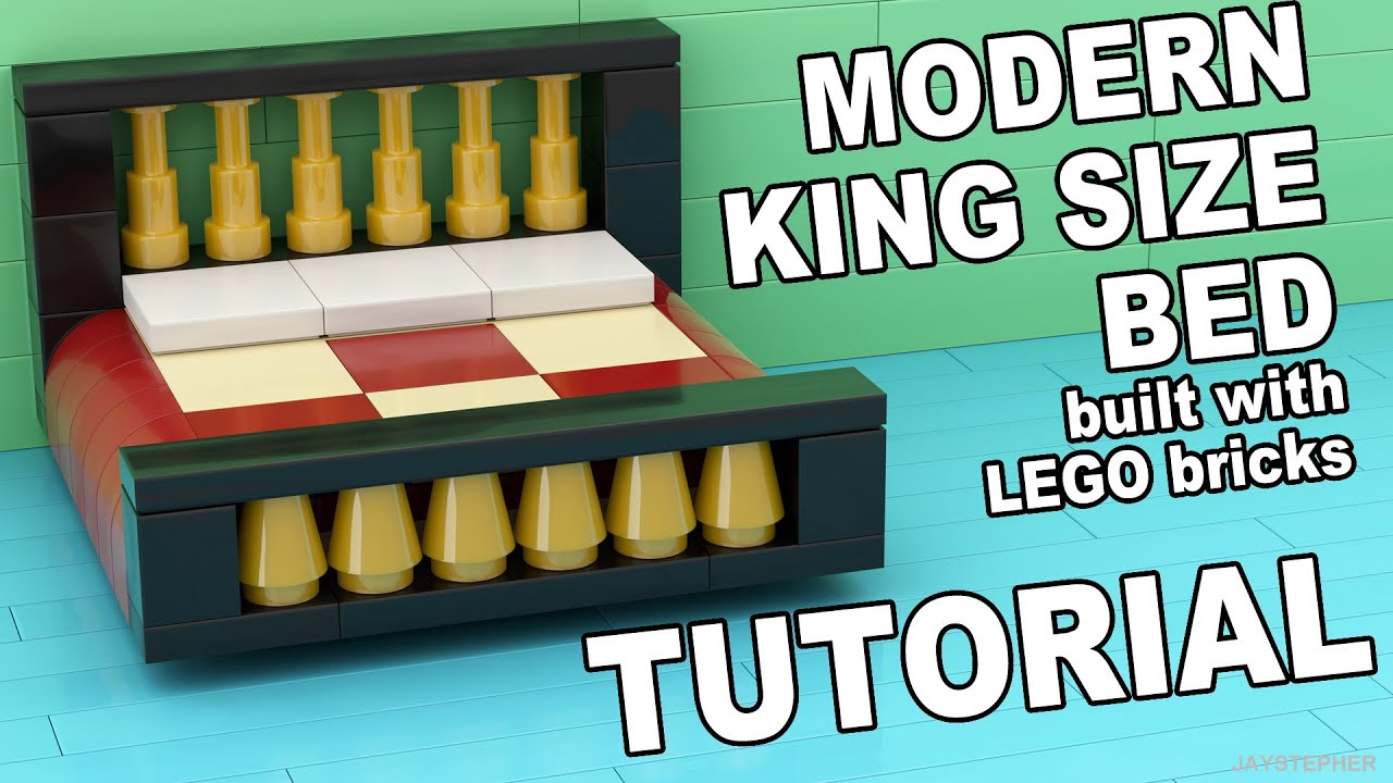LEGO King Size Bed How To Tutorial  YouTube