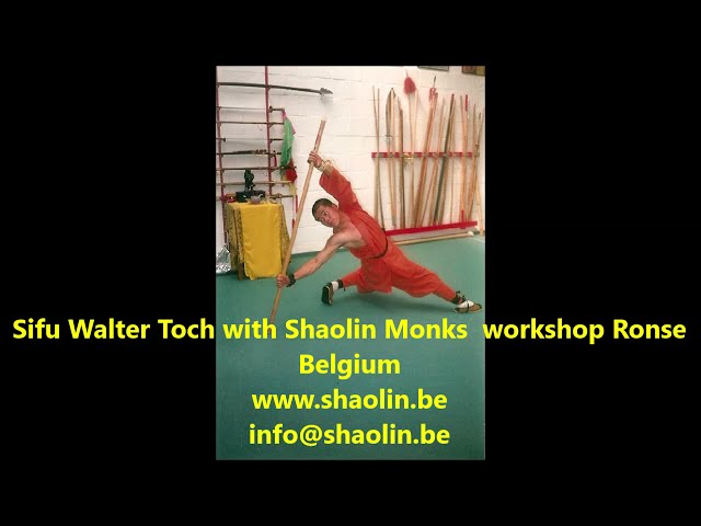 Sifu Walter Toch and Shaolin Monks workshop by Jiu Jitsu Club Ronse with Chin Na