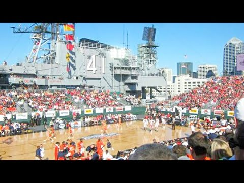 Basketball Game on an Aircraft Carrier - YouTube