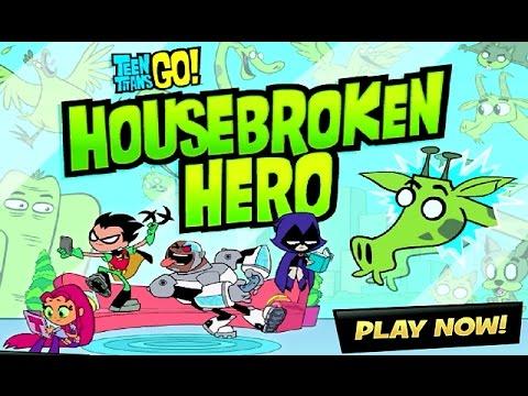 Teen Titans Go! - HOUSEBROKEN HERO - THE END (Cartoon Network Games)