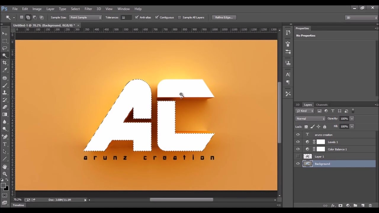 How to make 3d text photoshop cc tutorial youtube how to make 3d text photoshop cc tutorial baditri Gallery