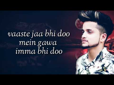 Reply VAASTE (Tushar Arora) Full Lyrics 2019