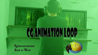 3d animated loop - back to work #rubberonionbattle