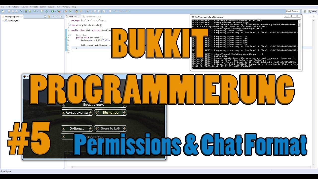 Bukkit Programmierung Permissions Tab Namen Und Chat Format - Minecraft chat namen farbe andern