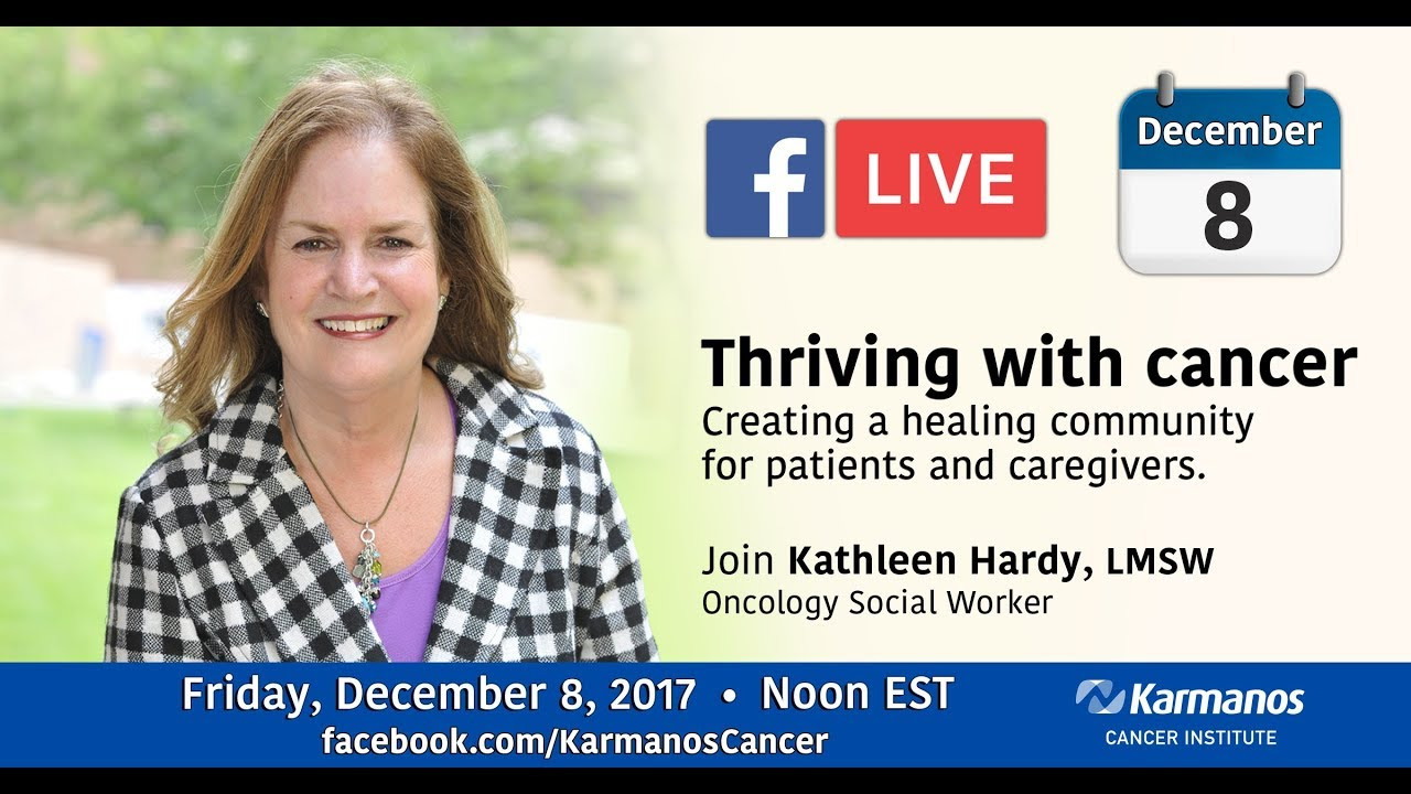 Facebook Live with Kathleen Hardy - Thriving with cancer video thumbnail