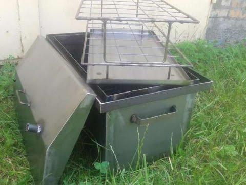 Самодельная коптильня для рыбы горячего копчения в домашних .
