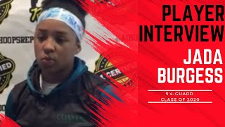 A1 Hoops Report Coach Allen interviews 2020 Jada Burgess