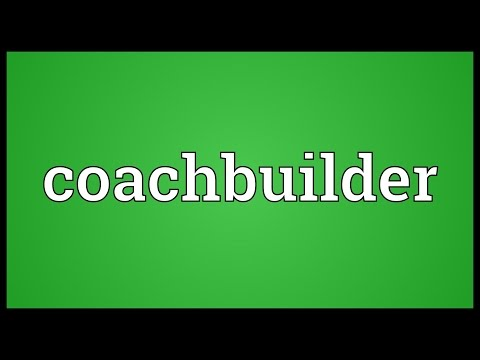 Coachbuilder Meaning