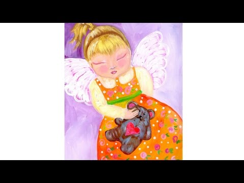 Angel Acrylic Painting Tutorial for Beginners
