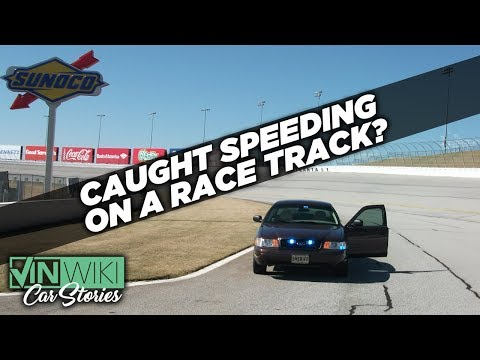A cop pulled me over on a racetrack