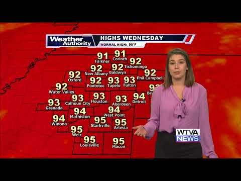 WTVA 9 News on ABC 8/28/18 - Main Weather at 6:30