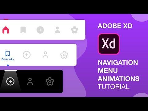 Navigation Menu Animations in Adobe Xd | Auto Animate | Design Weekly