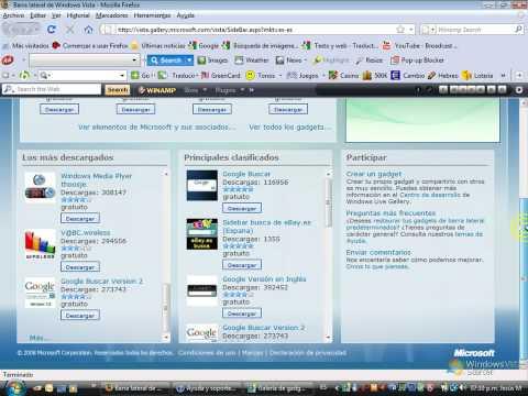 Windows Sidebar - (Como poner Gadgets)