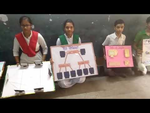 9th class student's make computer model in pds vidya mandir patiala