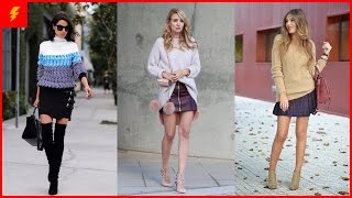 How to Wear Sweater and Skirt Together