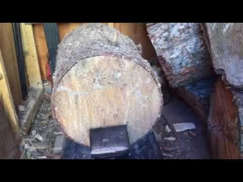 Homelite   5-Ton Electric Log Splitter demo