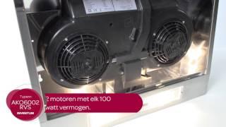 Inventum AKO6002RVS Onderbouw afzuigkap