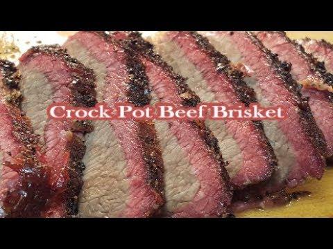 HOW TO MAKE CROCK POT BEEF BRISKET WITH A SALT & PEPPER RUB