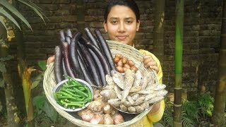 Dry Fish Brinjal Curry Recipe | Village Style | Cooking By Street Village Food