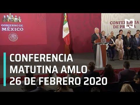 Conferencia matutina AMLO - Miércoles 26 de febrero 2020