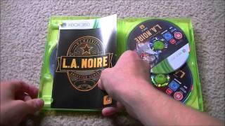 L.A. NOIRE for XBOX 360 unboxing.