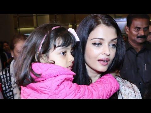 Aishwarya Rai Bachchan Returned Home From Cannes With Her Baby Girl Aaradhya