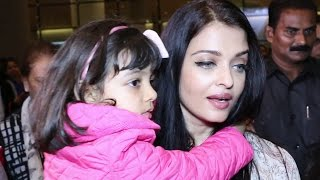 Aishwarya Rai Bachchan returned home from Cannes with her baby girl Aaradhya