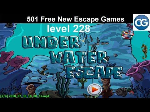 [Walkthrough] 501 Free New Escape Games level 228 - Under water escape - Complete Game