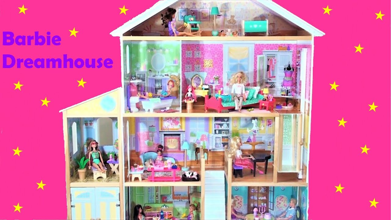 Barbie Dolls Dream House Tour 2018 Doll House 4 Story Mansion