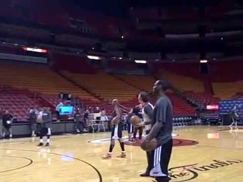 Lebron James, Dwade, Ray Allen, Mike Miller three point contest