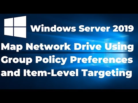 How To Map Network Drive Using Group Policy Preferences And Item-Level Targeting