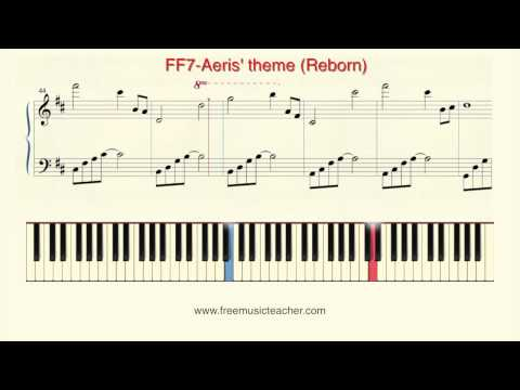 How To Play Piano: FF7 Aeris theme Reborn Piano Tutorial  Ramin Yousefi